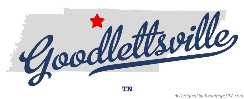 Map of Goodlettsville Tennessee TN