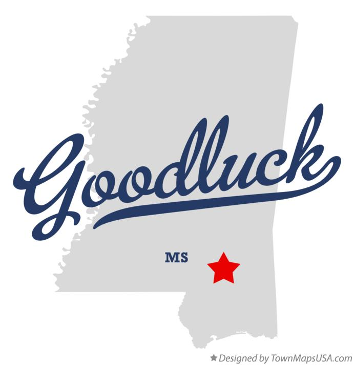 Map of Goodluck Mississippi MS