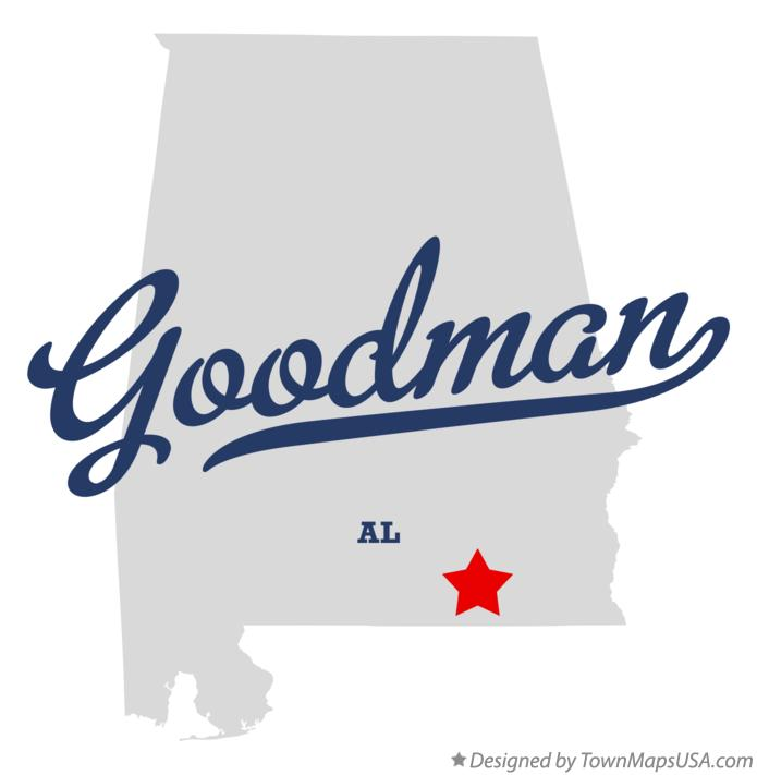 Map of Goodman Alabama AL
