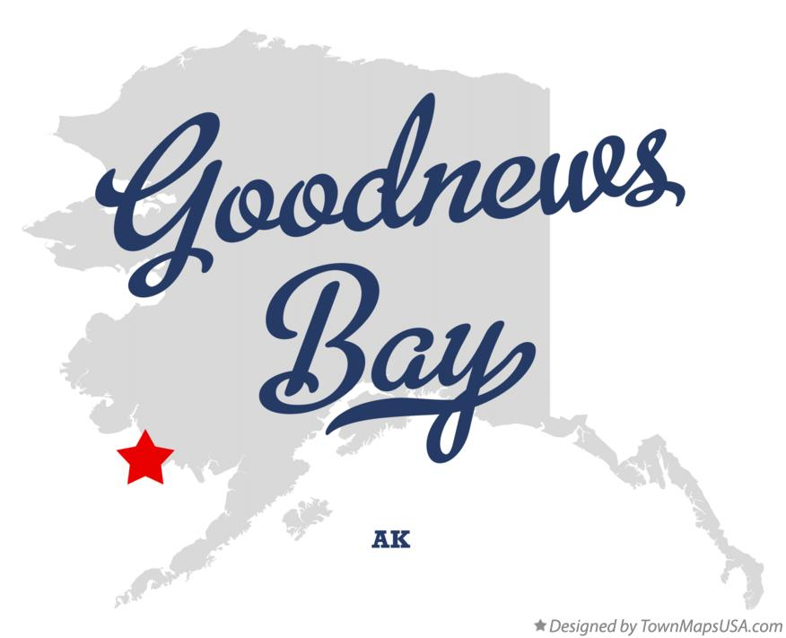 Map of Goodnews Bay Alaska AK