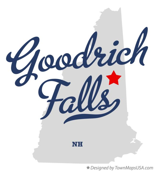 Map of Goodrich Falls New Hampshire NH