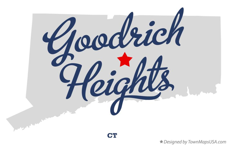 Map of Goodrich Heights Connecticut CT