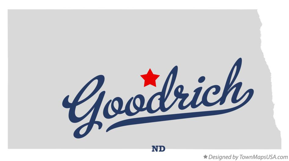 Map of Goodrich North Dakota ND