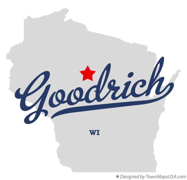 Map of Goodrich Wisconsin WI