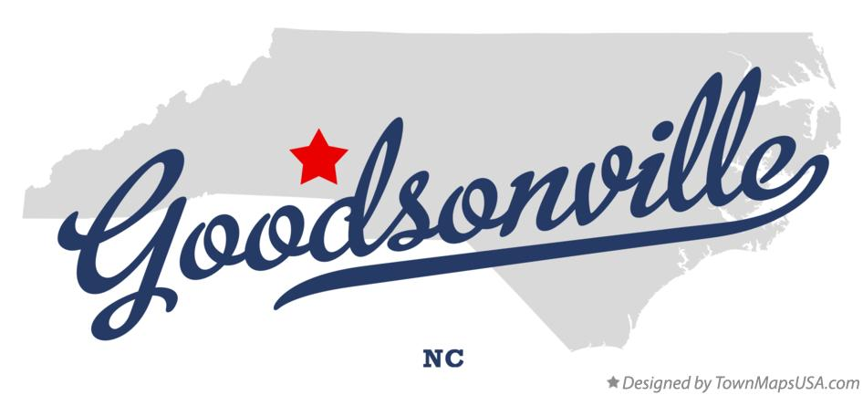 Map of Goodsonville North Carolina NC