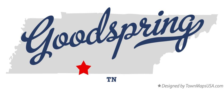 Map of Goodspring Tennessee TN