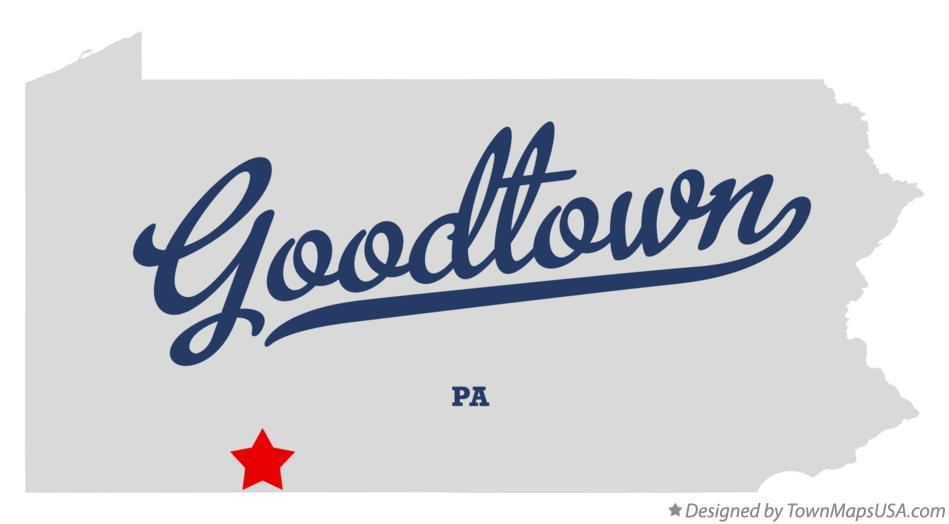 Map of Goodtown Pennsylvania PA