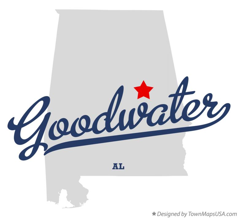 Map of Goodwater Alabama AL