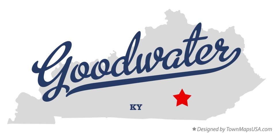 Map of Goodwater Kentucky KY