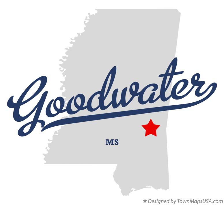 Map of Goodwater Mississippi MS
