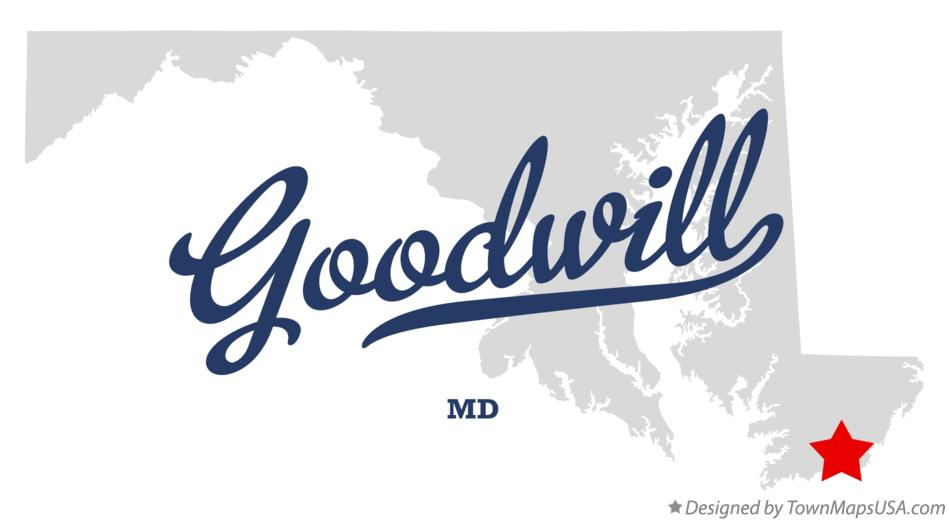 Map of Goodwill Maryland MD
