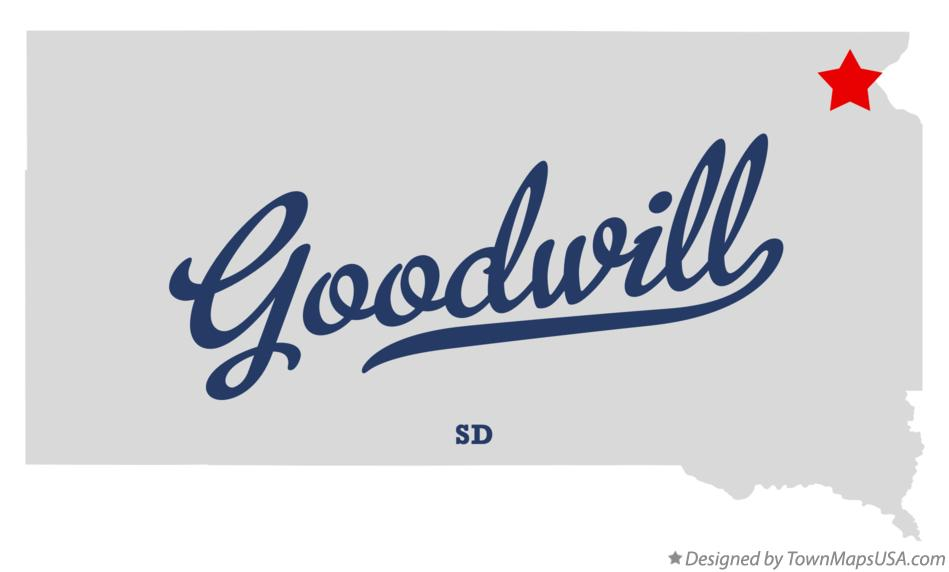 Map of Goodwill South Dakota SD