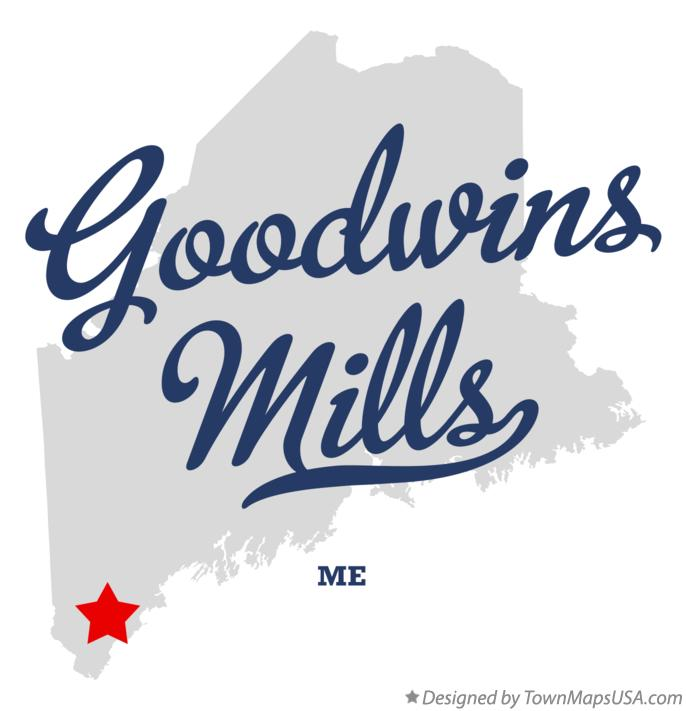 Map of Goodwins Mills Maine ME