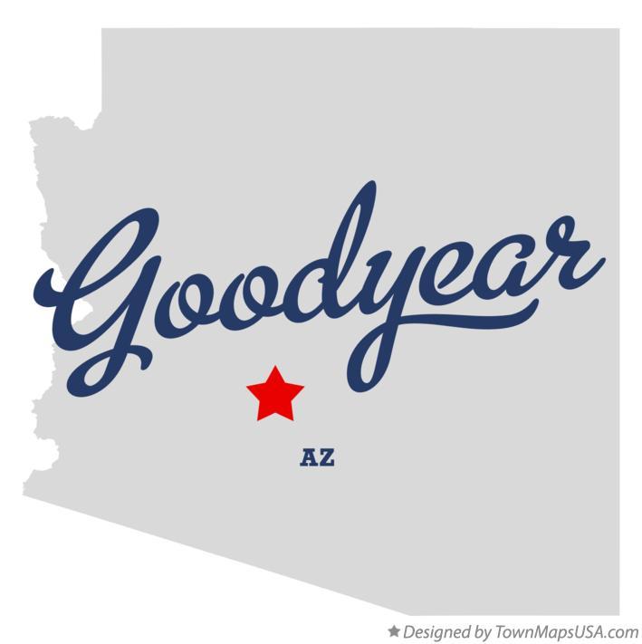 Map Of Goodyear Az Arizona