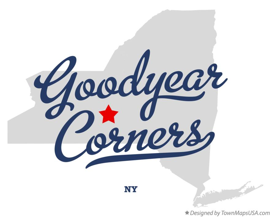 Map of Goodyear Corners New York NY