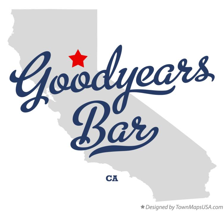 Map of Goodyears Bar California CA