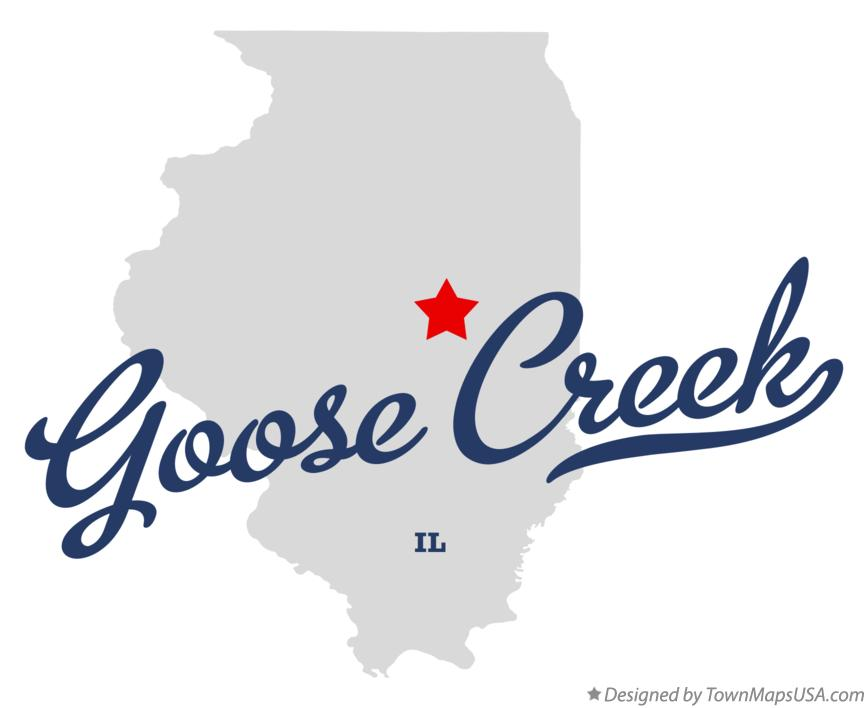 Map of Goose Creek Illinois IL