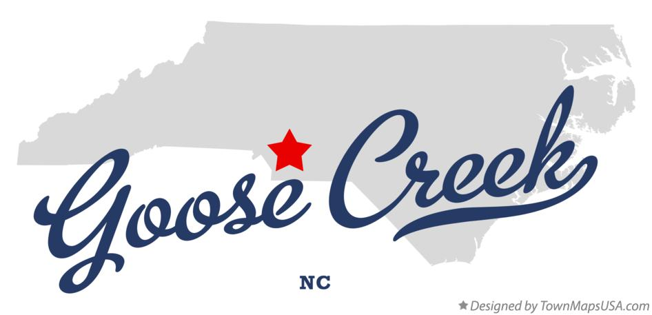 Map of Goose Creek North Carolina NC