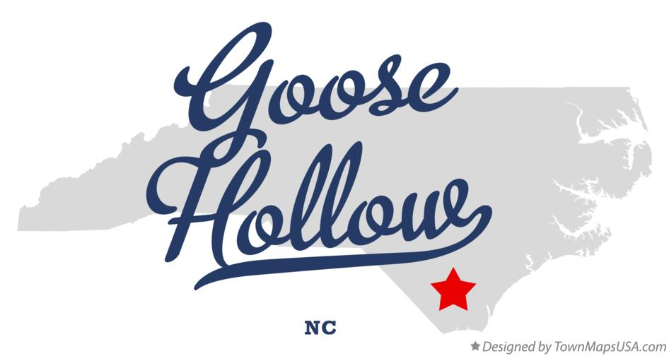 Map of Goose Hollow North Carolina NC