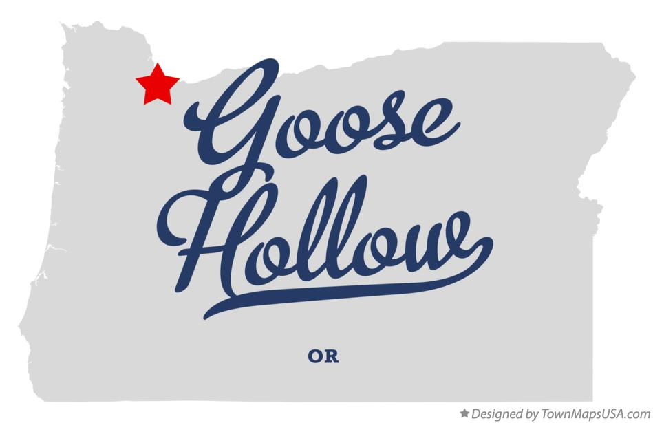 Map of Goose Hollow Oregon OR