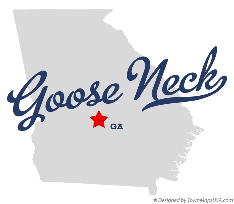 Map of Goose Neck Georgia GA