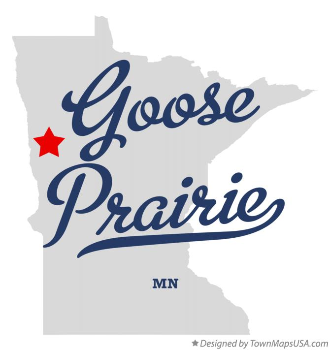 Map of Goose Prairie Minnesota MN