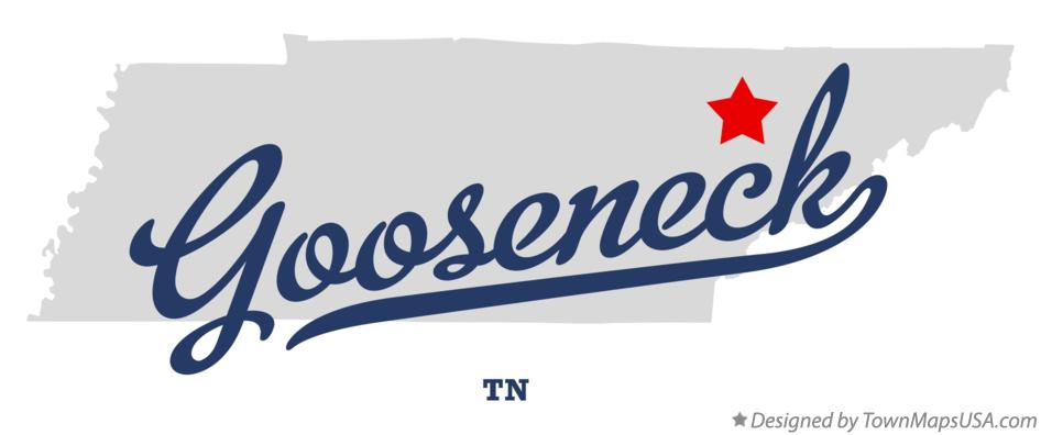 Map of Gooseneck Tennessee TN