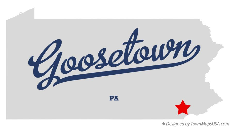 Map of Goosetown Pennsylvania PA