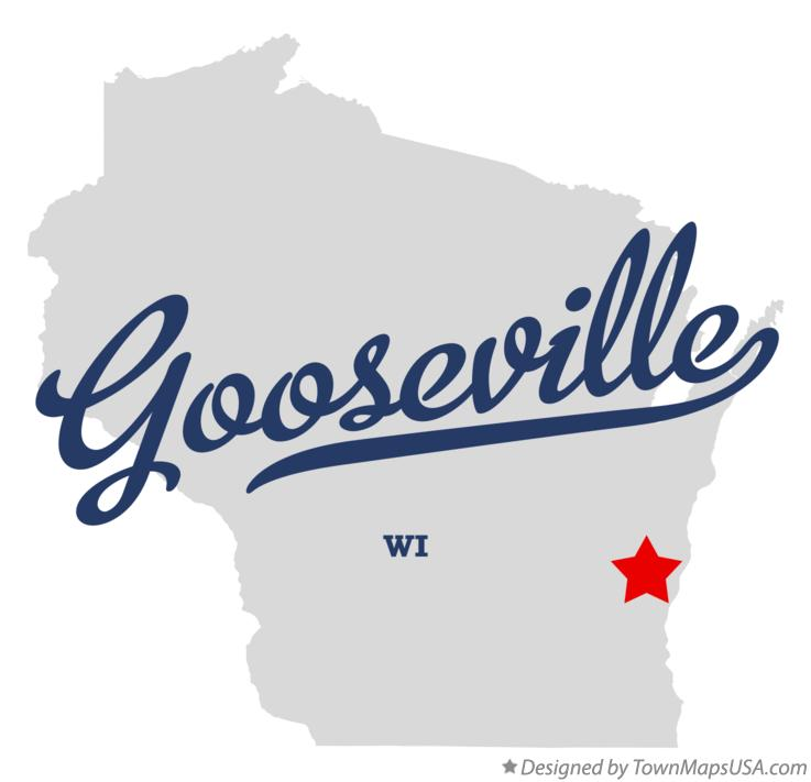 Map of Gooseville Wisconsin WI