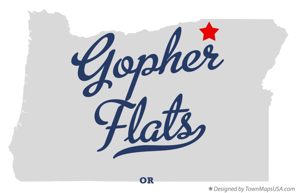 Map of Gopher Flats Oregon OR