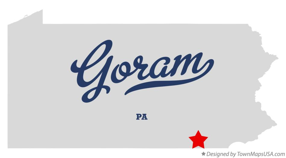 Map of Goram Pennsylvania PA