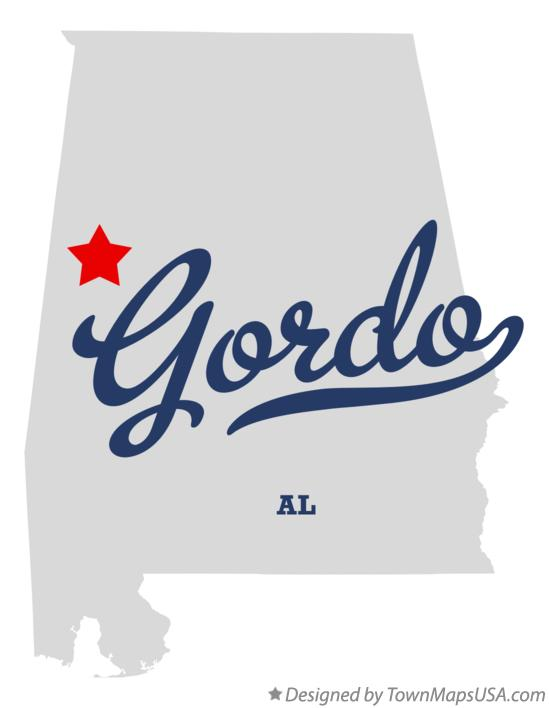 Map of Gordo Alabama AL