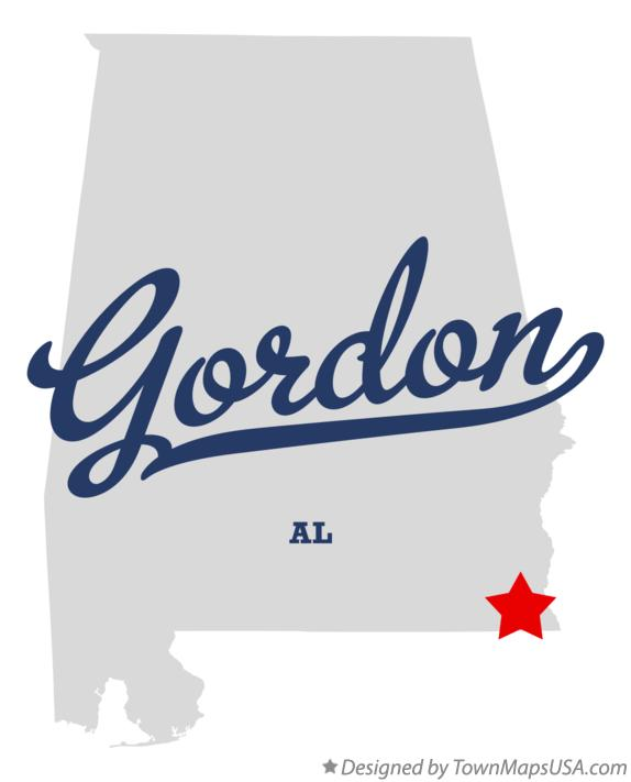 Map of Gordon Alabama AL