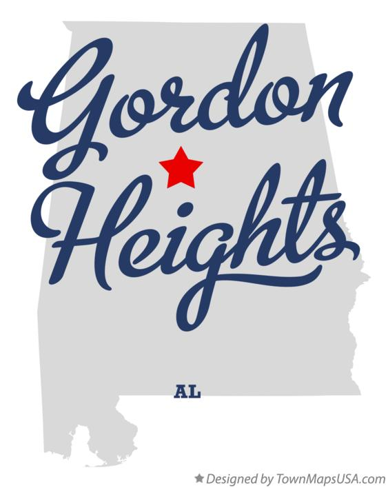 Map of Gordon Heights Alabama AL