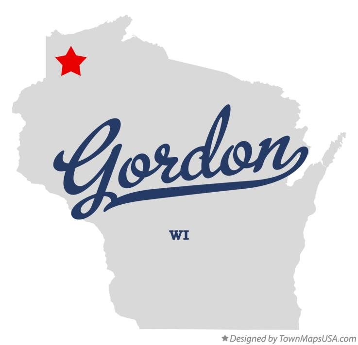Map of Gordon Wisconsin WI