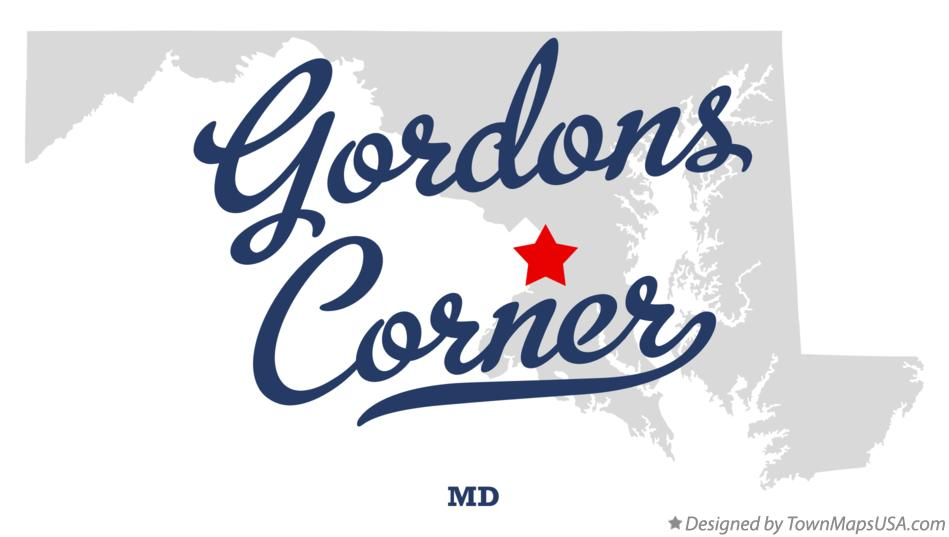 Map of Gordons Corner Maryland MD
