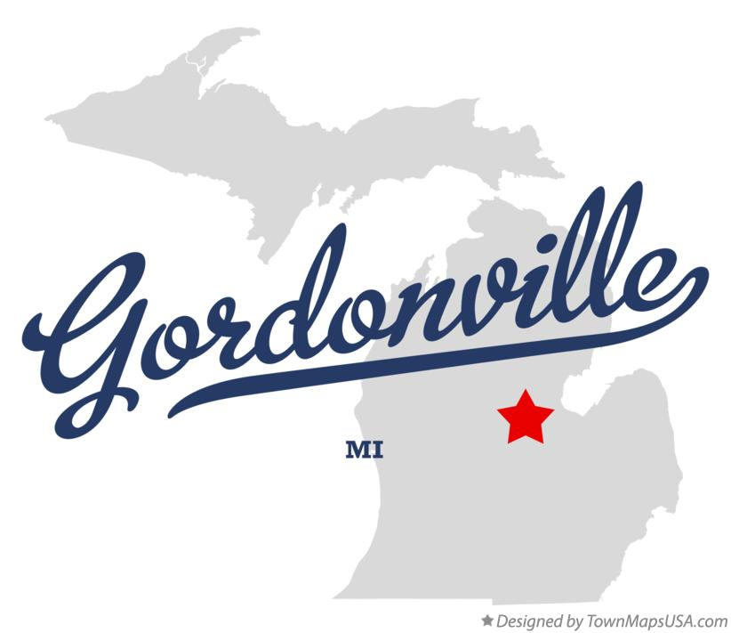 Map of Gordonville Michigan MI