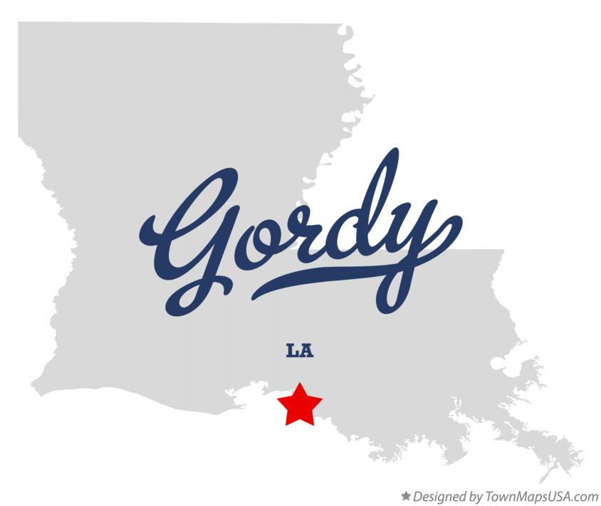 Map of Gordy Louisiana LA
