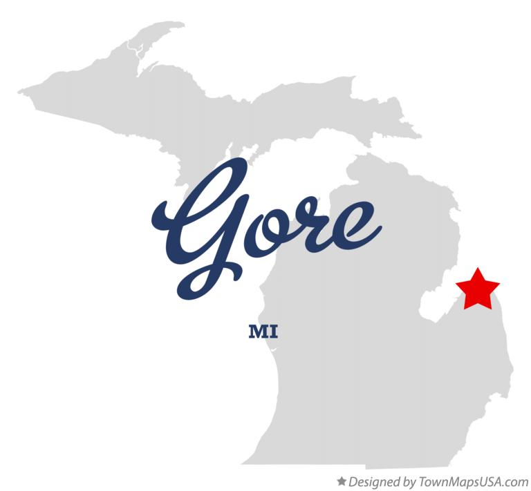Map of Gore Michigan MI