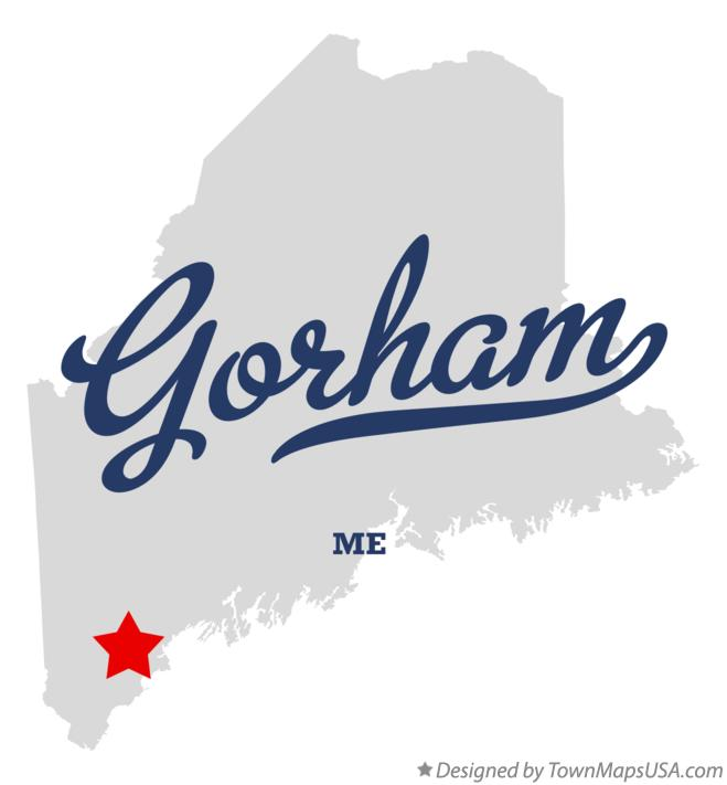 Map of Gorham Maine ME