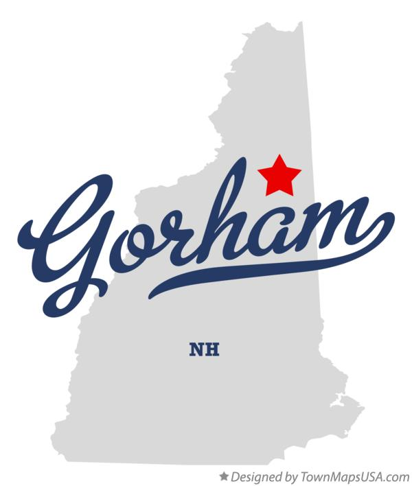 Map of Gorham New Hampshire NH