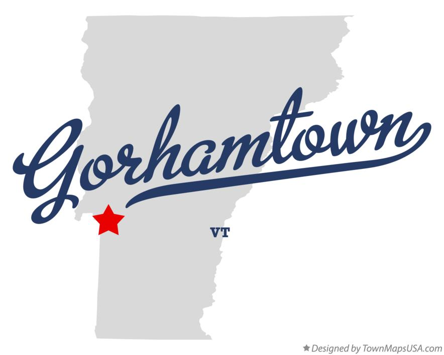 Map of Gorhamtown Vermont VT