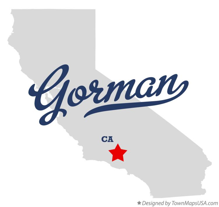 Map of Gorman California CA