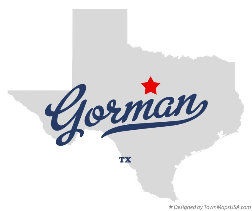 Map of Gorman Texas TX