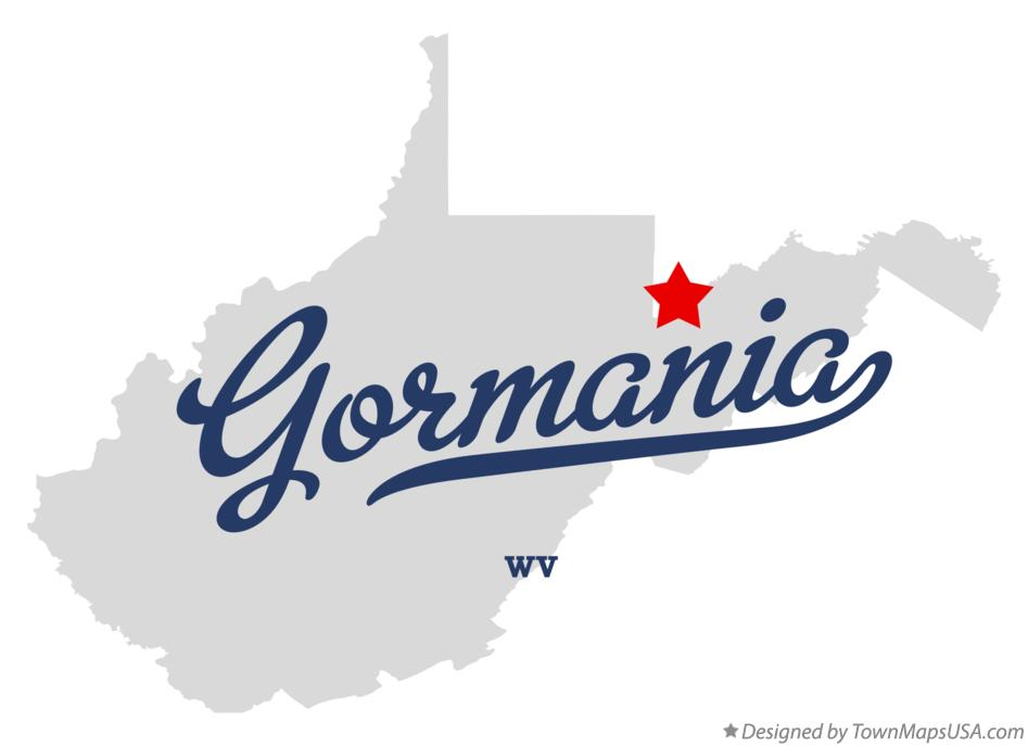 Map of Gormania West Virginia WV