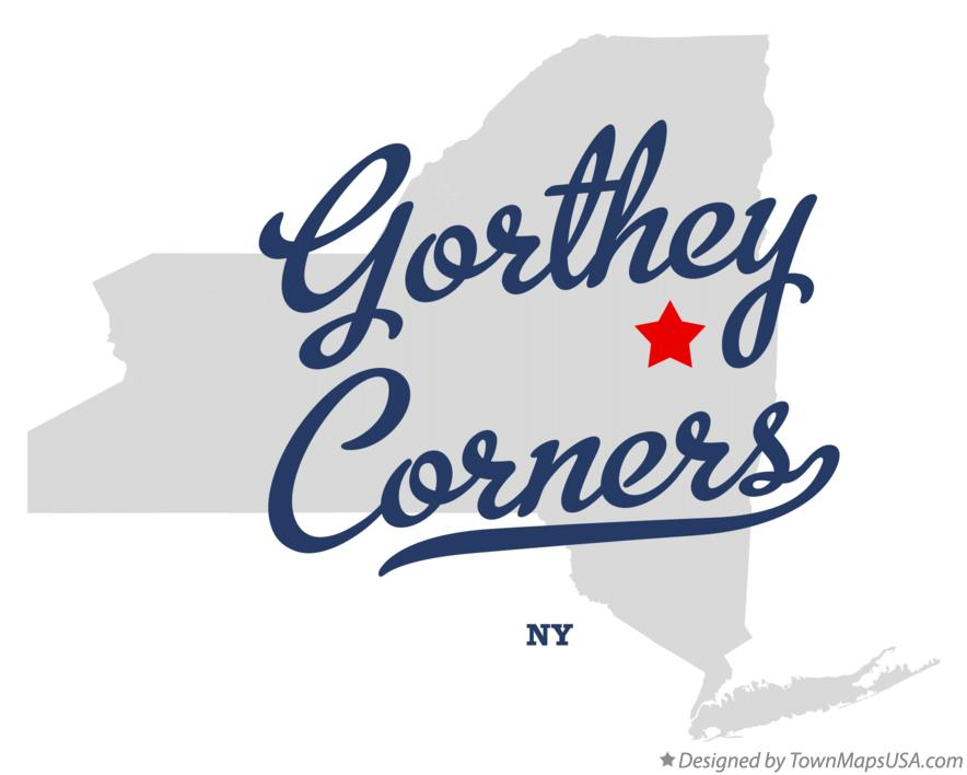 Map of Gorthey Corners New York NY