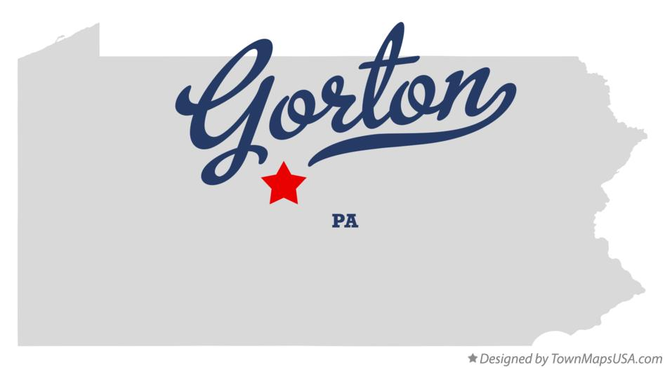 Map of Gorton Pennsylvania PA