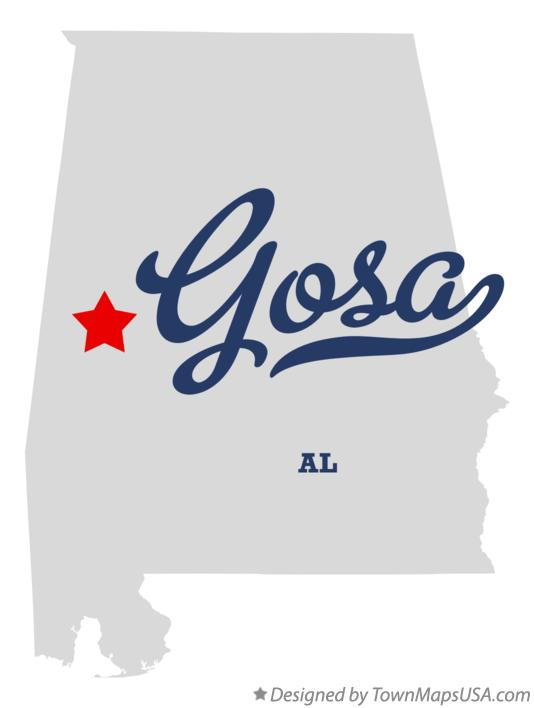Map of Gosa Alabama AL