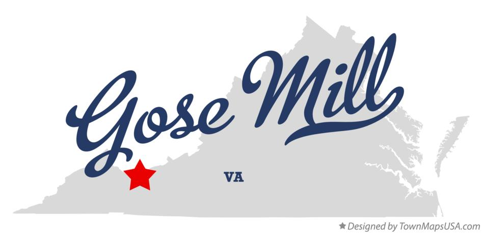 Map of Gose Mill Virginia VA