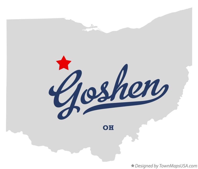 Map of Goshen Ohio OH